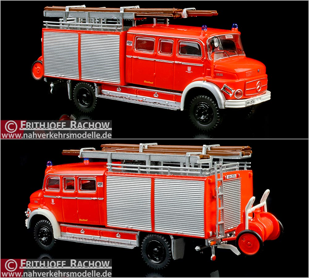1//87 Brekina MB LAF 1113 LF 16 Hamburg Ffw Bergedorf 2588