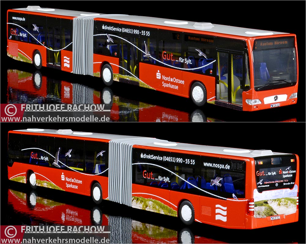 Rietze Gelenkbus MB O 530G SVG Sylt Pafümerien Viglahn